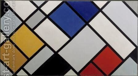 Contra-Composition of Dissonances, XVI by Theo van Doesburg - Reproduction Oil Painting