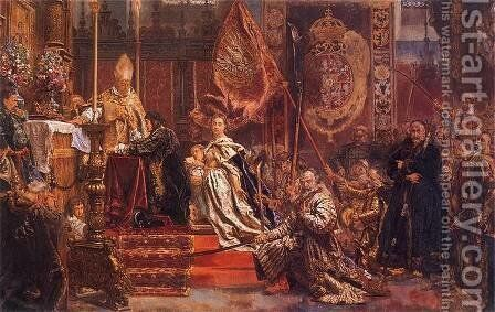Vows John Kaz by Jan Matejko - Reproduction Oil Painting