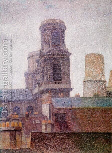 The Towers, Saint-Sulpice by Albert Dubois-Pillet - Reproduction Oil Painting