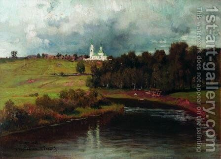 View of the village Varvarino by Ilya Efimovich Efimovich Repin - Reproduction Oil Painting