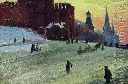 Moscow. Red Square by Boris Kustodiev - Reproduction Oil Painting