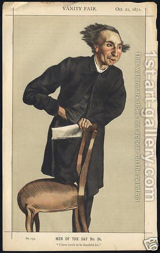 Caricature of Charles Voysey by James Jacques Joseph Tissot - Reproduction Oil Painting