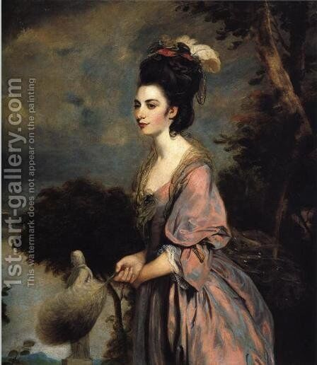 Mrs. Richard Crofts by Sir Joshua Reynolds - Reproduction Oil Painting