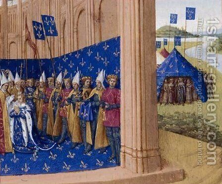 Coronation of Lothair by Jean Fouquet - Reproduction Oil Painting