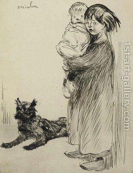 La Grande Soeur by Theophile Alexandre Steinlen - Reproduction Oil Painting