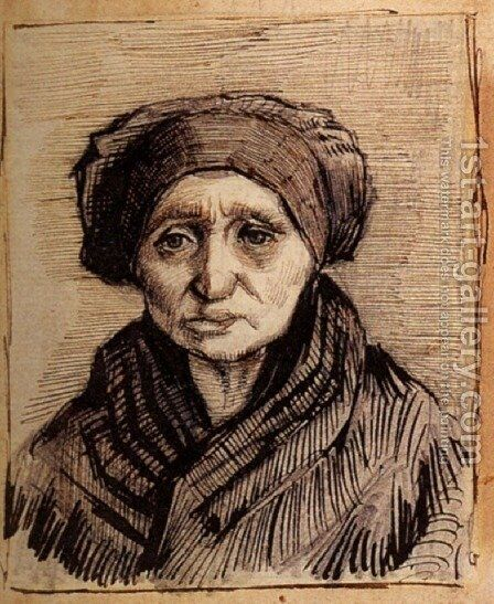 Head of a Woman 16 by Vincent Van Gogh - Reproduction Oil Painting