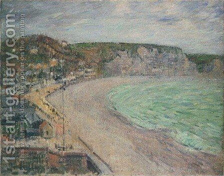 Beach at Fecamp by Gustave Loiseau - Reproduction Oil Painting