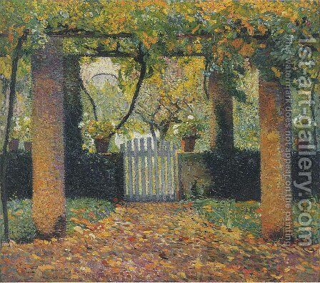 Garden door in Bower by Henri Martin - Reproduction Oil Painting