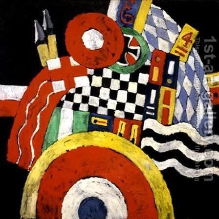 E by Marsden Hartley - Reproduction Oil Painting