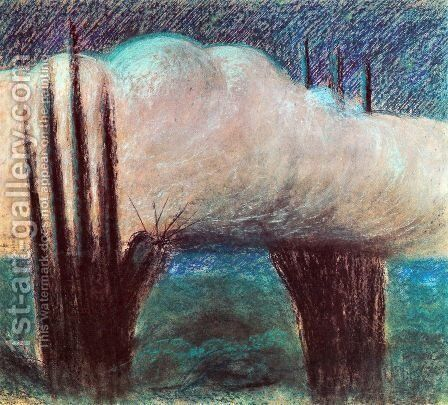 Evening by Mikolajus Ciurlionis - Reproduction Oil Painting