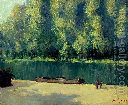 By the Loing 2 by Alfred Sisley - Reproduction Oil Painting