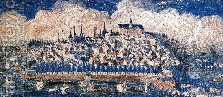 View of the City Saint-Quentin 2 by Maurice Quentin de La Tour - Reproduction Oil Painting