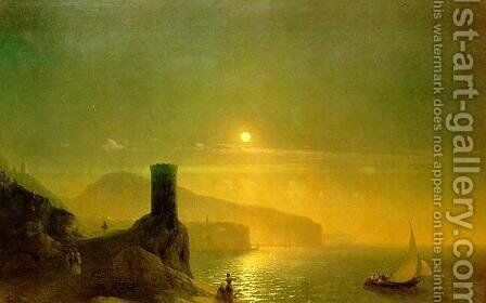 View of Vico near Naples by Ivan Konstantinovich Aivazovsky - Reproduction Oil Painting