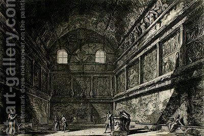 Temple of Ceres and Faustina by Giovanni Battista Piranesi - Reproduction Oil Painting