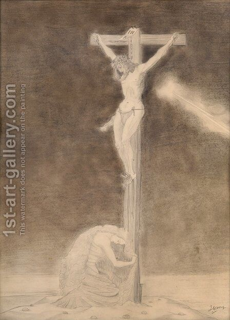 Crucifixion by Jan Toorop - Reproduction Oil Painting