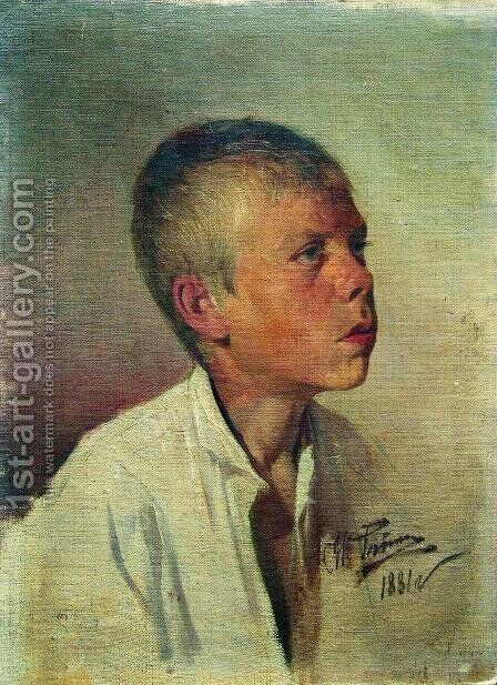 Portrait of a Boy 2 by Ilya Efimovich Efimovich Repin - Reproduction Oil Painting
