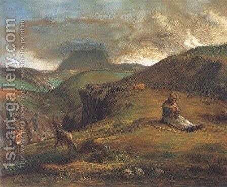 Puy de Dome by Jean-Francois Millet - Reproduction Oil Painting