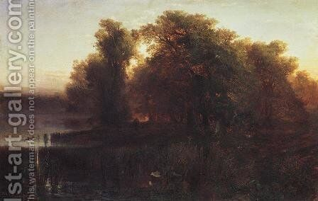 Evening Landscape by Alexei Kondratyevich Savrasov - Reproduction Oil Painting