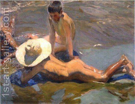 Boys on the Beach by Joaquin Sorolla y Bastida - Reproduction Oil Painting