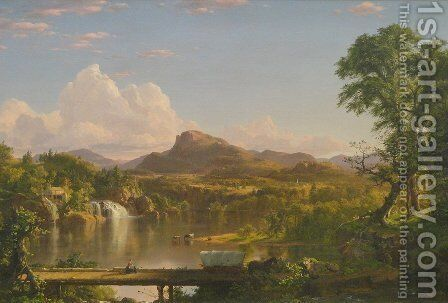 New England Scenery 2 by Frederic Edwin Church - Reproduction Oil Painting