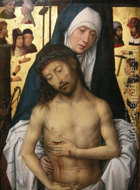 Ecce Homo in the arms of the virgin by Hans Memling - Reproduction Oil Painting