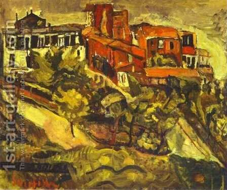 Red Houses by Chaim Soutine - Reproduction Oil Painting