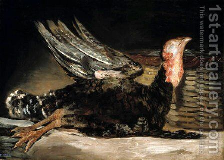 Dead turkey by Goya - Reproduction Oil Painting