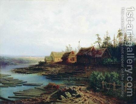 Rafts by Alexei Kondratyevich Savrasov - Reproduction Oil Painting
