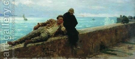 Tramps. Homeless. by Ilya Efimovich Efimovich Repin - Reproduction Oil Painting