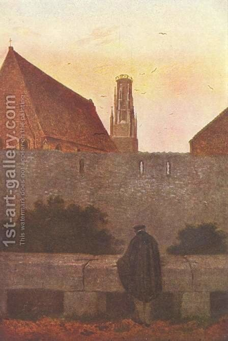 By the townwall by Caspar David Friedrich - Reproduction Oil Painting