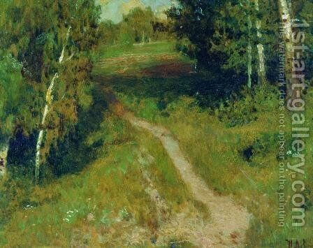 A birch grove by Isaak Ilyich Levitan - Reproduction Oil Painting
