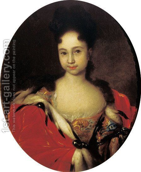Anna Petrovna by Ivan Nikitich Nikitin - Reproduction Oil Painting