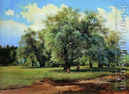 Willows Lit Up by the Sun by Ivan Shishkin - Reproduction Oil Painting