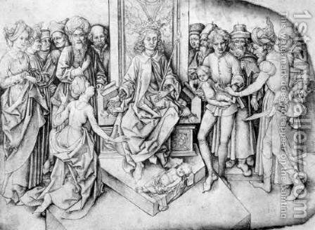 Judgement of Solomon by Martin Schongauer - Reproduction Oil Painting