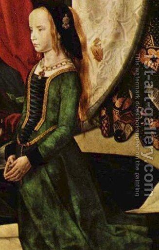 Portinari Triptych (detail) 4 by Hugo Van Der Goes - Reproduction Oil Painting