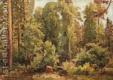 In the forest 3 by Ivan Shishkin - Reproduction Oil Painting