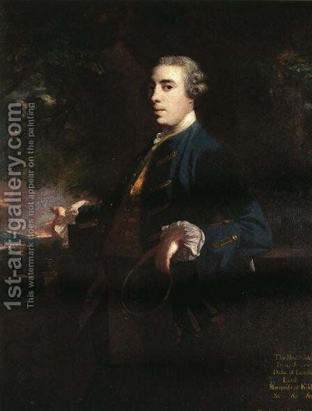 James FitzGerald, Duke of Leinster by Sir Joshua Reynolds - Reproduction Oil Painting