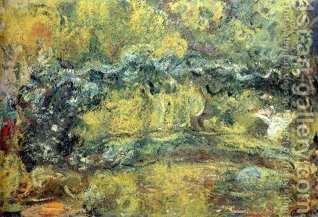 The Japanis Bridge (Footbridge over the Water-Lily Pond) by Claude Oscar Monet - Reproduction Oil Painting