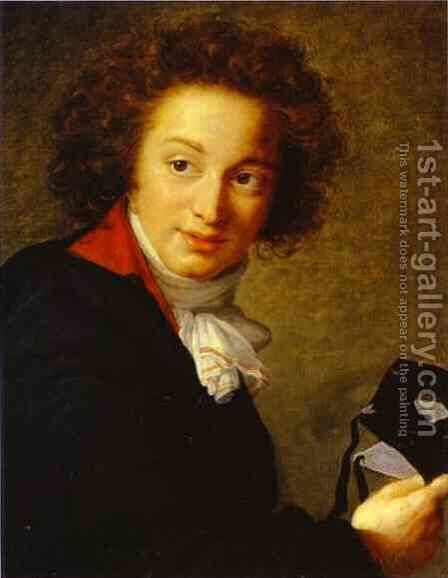 Count Grigory Ivanovich Tchernyshov Holding a Mask by Elisabeth Vigee-Lebrun - Reproduction Oil Painting