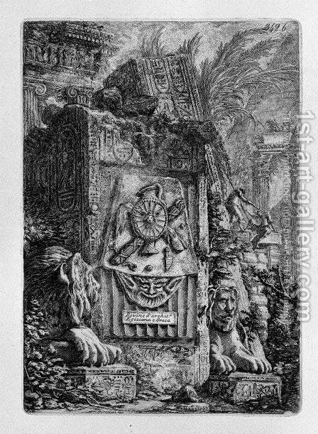 Ruins of Egyptian and Greek Architecture by Giovanni Battista Piranesi - Reproduction Oil Painting