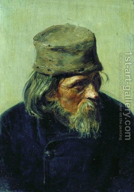 Seller of student works at the Academy of Arts by Ilya Efimovich Efimovich Repin - Reproduction Oil Painting