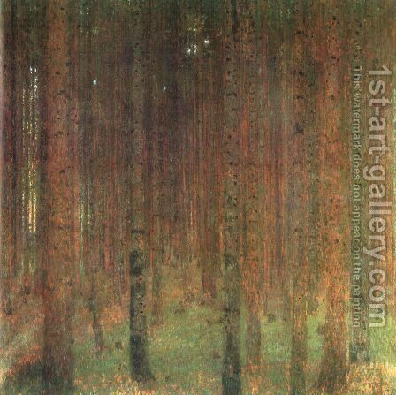 Pine Forest II by Gustav Klimt - Reproduction Oil Painting