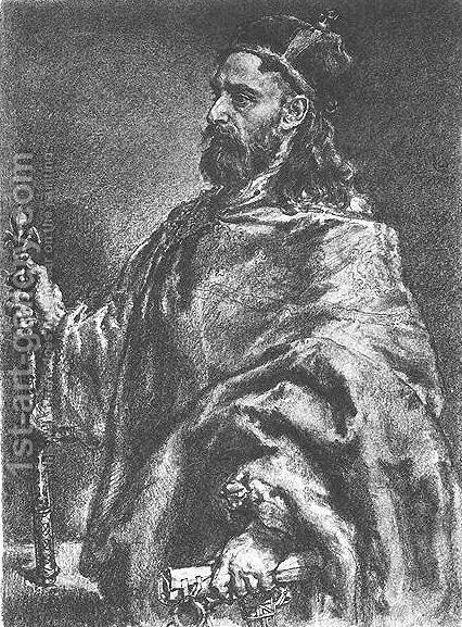 Wladyslaw Herman 2 by Jan Matejko - Reproduction Oil Painting