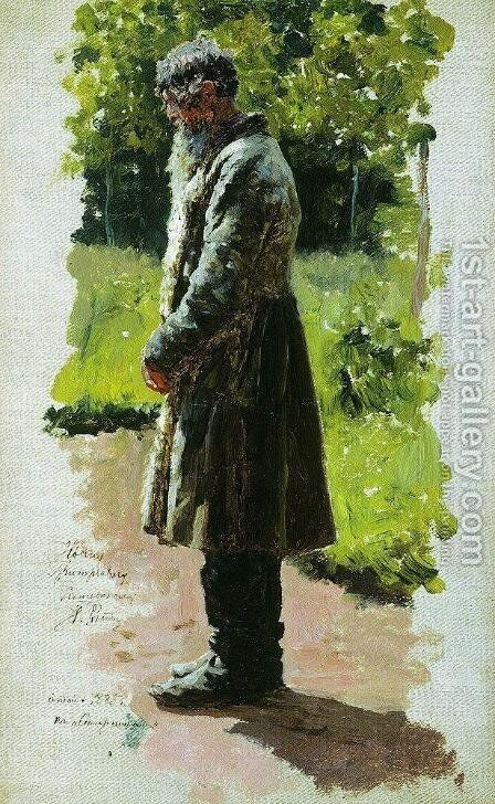 Old farmer by Ilya Efimovich Efimovich Repin - Reproduction Oil Painting