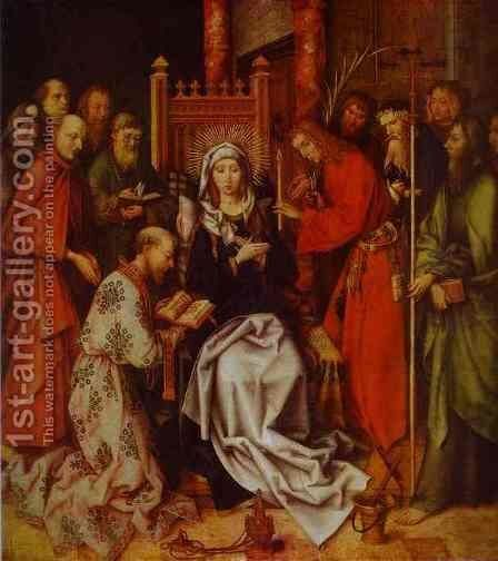 Death of the Virgin by Hans, the Younger Holbein - Reproduction Oil Painting