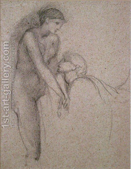 Pygmalion 2 by Sir Edward Coley Burne-Jones - Reproduction Oil Painting