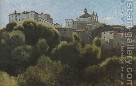 Ariccia, Palazzo Chigi by Jean-Baptiste-Camille Corot - Reproduction Oil Painting