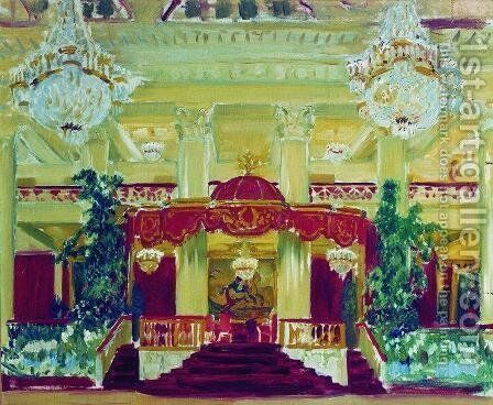Nobility Assembly Hall in St. Petersburg by Boris Kustodiev - Reproduction Oil Painting