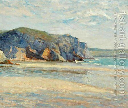 The Beach at Morgat, Finistere by Maxime Maufra - Reproduction Oil Painting