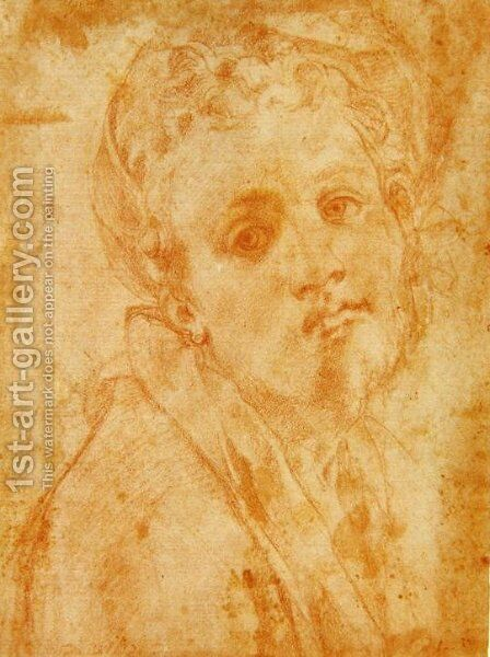 Self Portrait by (Jacopo Carucci) Pontormo - Reproduction Oil Painting